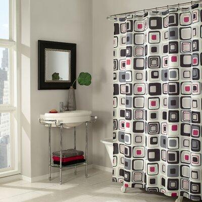 Buy Low Price M Style Blocks Shower Curtain In Black