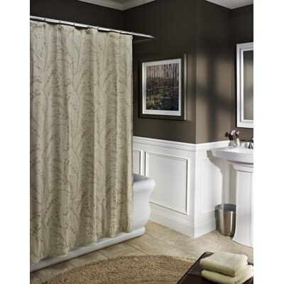 Blossom Shower Curtain Color: Ivory