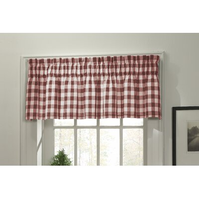 "M.style Classic Check 70"" Curtain Valance - Color: Barn Red at Sears.com"