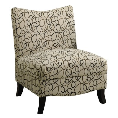 Swirl Fabric Slipper Chair