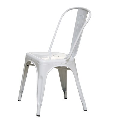 Milania Side Chair Upholstery: White Glossy