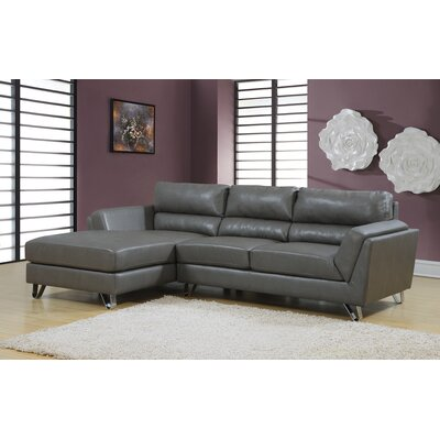 Monarch Specialties Inc. I 8210GY Sectional Upholstery