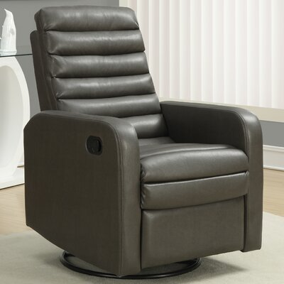 Manual Rocker Recliner Upholstery: Charcoal Grey
