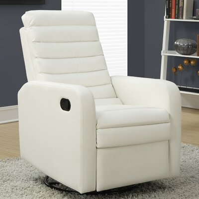 Swivel Glider Recliner Upholstery: White