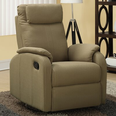 Manual Rocker Recliner Upholstery: Light Brown