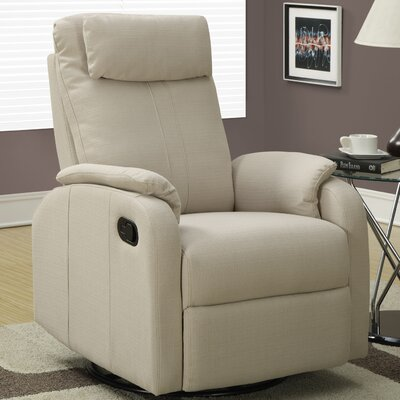 Swivel Rocker Recliner Upholstery: Sand