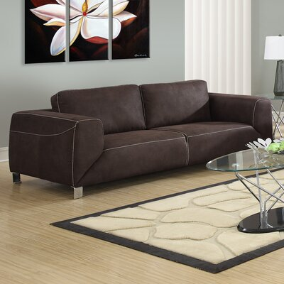 Sofa Upholstery: Chocolate Brown / Tan
