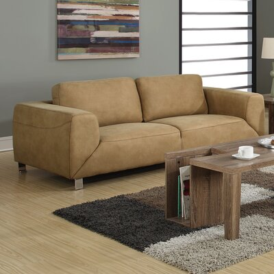 Sofa Upholstery: Tan / Chocolate Brown