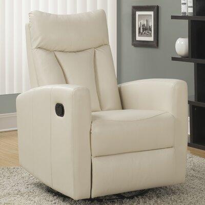 Swivel Glider Recliner Upholstery: Ivory