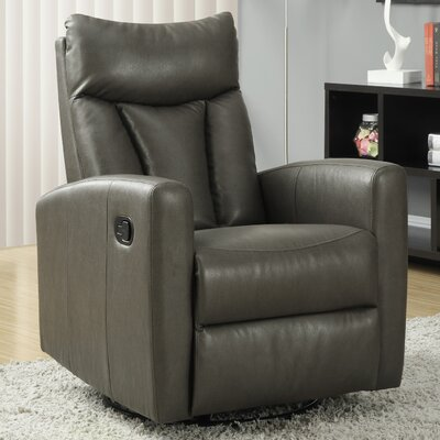 Swivel Glider Recliner Upholstery: Charcoal Grey