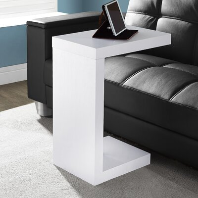 Jess End Table Color: White