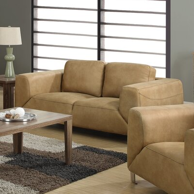 Loveseat Upholstery: Tan / Chocolate Brown