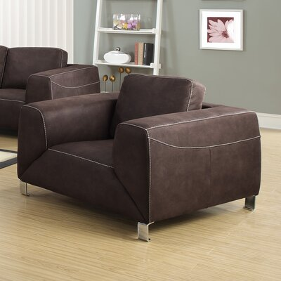 Contrast Armchair Upholstery: Chocolate Brown / Tan