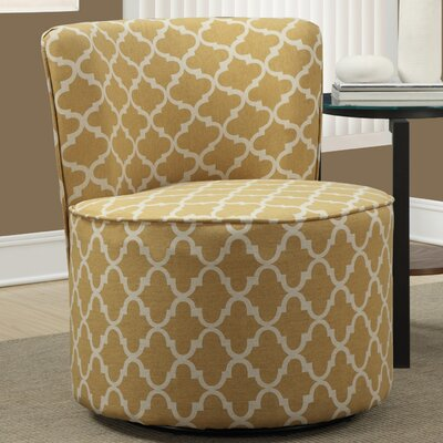 Lantern Barrel Chair Upholstery: Gold