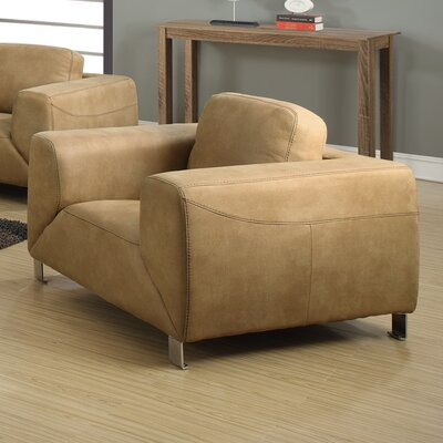 Contrast Armchair Upholstery: Tan / Chocolate Brown