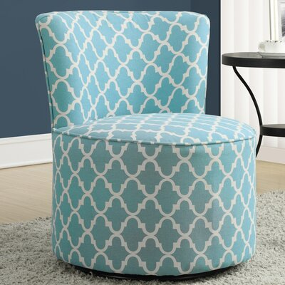 Lantern Barrel Chair Upholstery: Light Blue