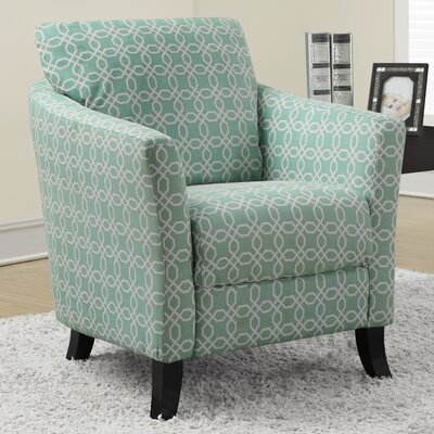 Angled Kaleidoscope Armchair Fabric: Faded Green