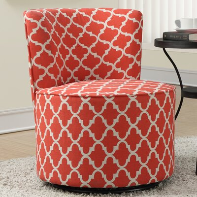 Lantern Barrel Chair Upholstery: Coral