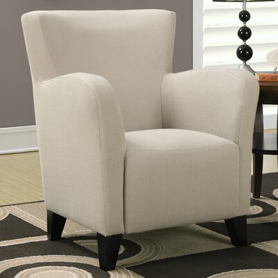 Linen Armchair Fabric: Taupe