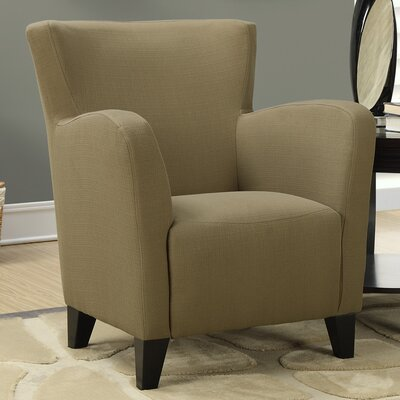 Linen Armchair Fabric: Brown
