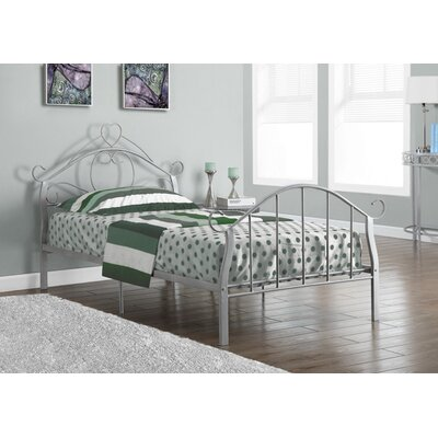Twin Panel Bed Finish: Silver