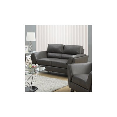 Loveseat Upholstery: Charcoal Gray