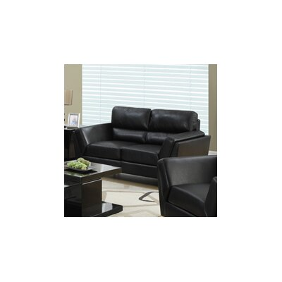 Loveseat Frame Finish: Black