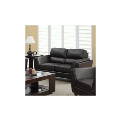 Loveseat Upholstery: Dark Brown