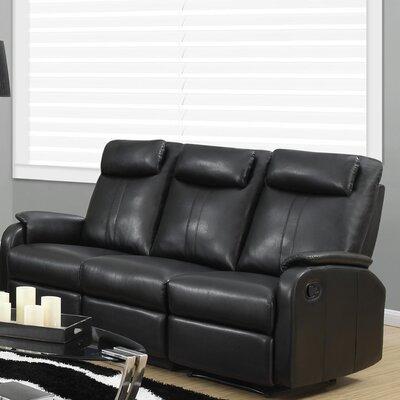 I 81BK-3 MNQ2669 Monarch Specialties Inc. Reclining Sofa