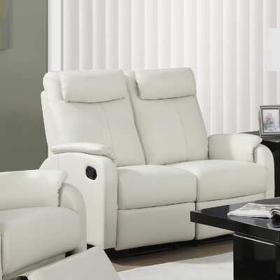 Reclining Loveseat Upholstery: Ivory