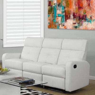 Reclining Sofa Upholstery: White