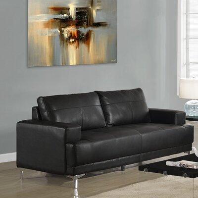 Sofa Upholstery: Black