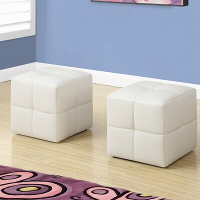 Juvenvile Cube Ottoman Upholstery: White