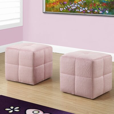 Juvenvile Cube Ottoman Upholstery: Fuzzy pink