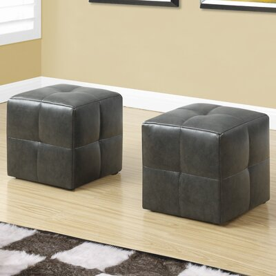 Juvenvile Cube Ottoman Upholstery: Charcoal