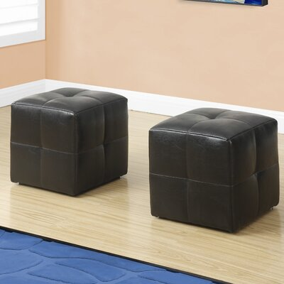 Juvenvile Cube Ottoman Upholstery: Dark Brown