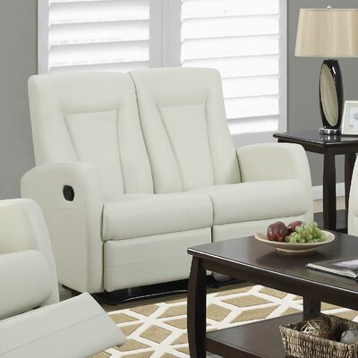Reclining Loveseat Color: Ivory