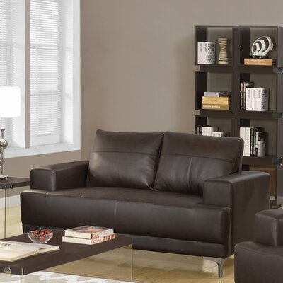 Loveseat Upholstery: Brown