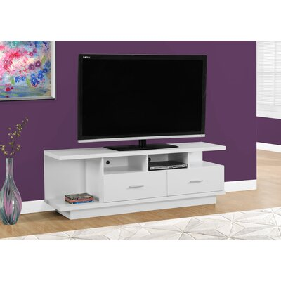 60 TV Stand Color: White