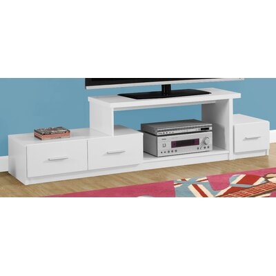71 TV Stand Color: White