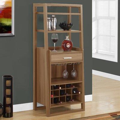 Bar with Wine Storage Finish: Walnut