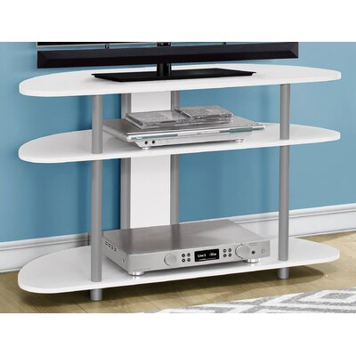 38.5 TV Stand Color: White