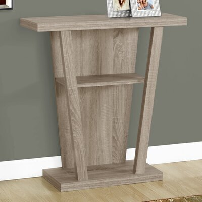 Console Table Finish: Dark Taupe