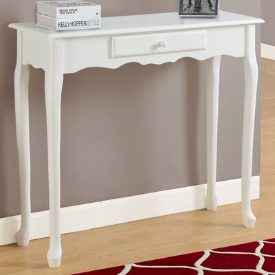 Console Table Finish: Antique White
