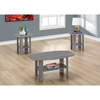 Ballou Coffee Table Set Color: Grey