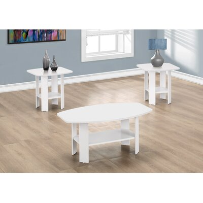 Coffee Table Set Finish: White