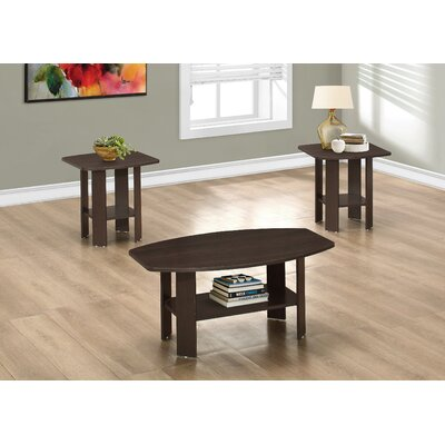 Ballou Coffee Table Set Color: Cappuccino