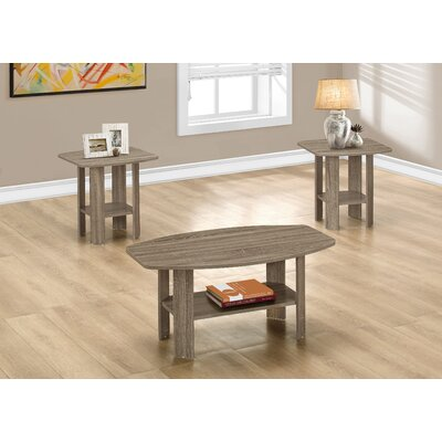 Coffee Table Set Finish: Dark Taupe