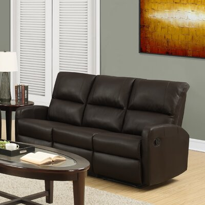 Reclining Sofa Upholstery Color: Dark Brown