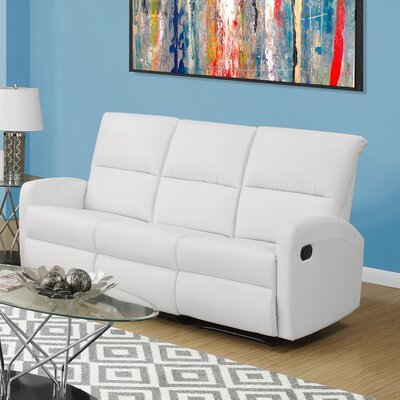 Reclining Sofa Upholstery Color: White